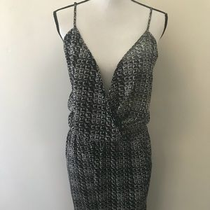 Express Pants - Express Black White Geometric Tank Romper Jumper 8